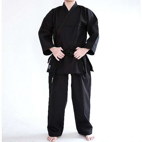 KHF All Black Hapkido Uniform (Takes 1- 2 weeks to make this product)