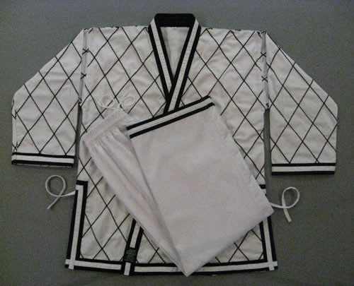 Diamond White - double line cuffs Uniform (Takes 1- 2 weeks to make this product)