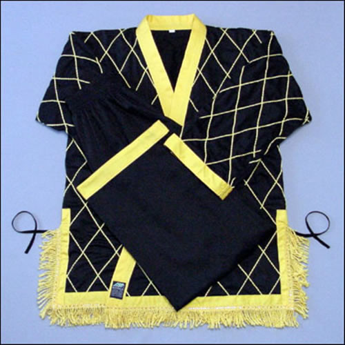 Diamond Black-yellow cuffs and tassel (Takes 1- 2 weeks to make this product)