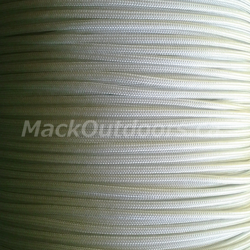 RG1010 White Paracord - Sunlight through a window in early March.