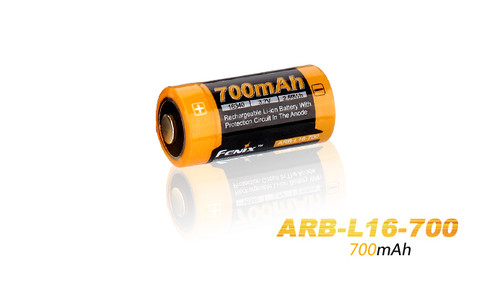 Fenix ARB-L16 16340 700mAh Li-Ion Battery