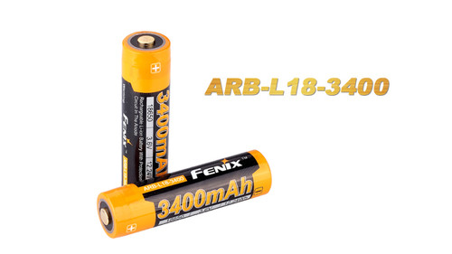 Fenix 18650 3400mAh Button Top