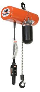 CM Lodestar 1 Ton Hoist | Model L | 10Ft. Lift | 16 FPM | No Upper Suspension | 230V/460V
