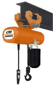"CM 635 Low Headroom Manual Hoist Trolley | 3575 | 1/8 to 1 Ton | 2-5/8"" - 5-5/8"" Flange Width"