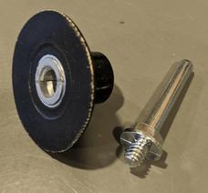 "Carborundum Merit 8834164922 2"" Back Up Pad For Quick Change Discs and Mini Flap Discs   1/4"" Shank   Type III   Female"