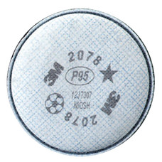3M 2078 P95 Particulate Filter | Nuisance Level | Organic Vapor/Acid Gas Relief | (Pack of 2)