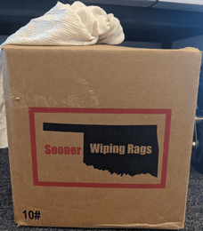 Sooner 552-101-10 Wiping Rags   White   10 LBS Box