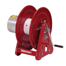 Reelcraft CEA30006 Welding Cable Hose Reel | 400 Amp | 300 Ft. Cable Capacity | Single Hand Crank