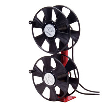 Reelcraft T-2464-0 Welding Cable Hose Reel | 250 Amp | 250 Ft. Cable Capacity | Dual Hand Crank/Stacked
