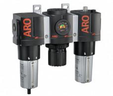 "ARO C38461-810 1"" Relieving FRL | 3000 Series | Metal Bowl with Gauge | 215 SCFM (3 Piece)"