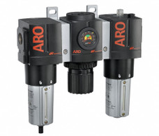 "ARO C38461-810 1"" Relieving FRL   3000 Series   Metal Bowl with Gauge   215 SCFM (3 Piece)"