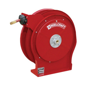 25 Air//Water Hose Not Included 25/' Air//Water Hose Not Included Reelcraft HD79025 OLP Heavy Duty Spring Retractable Hose Reel