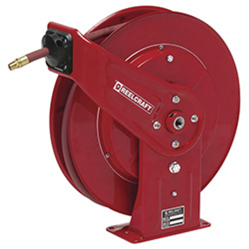Reelcraft 7650 OLP Heavy Duty Spring Retractable Hose Reel | 3/8 in. Hose Diameter | 50 Ft. Hose Length | 300 Max PSI
