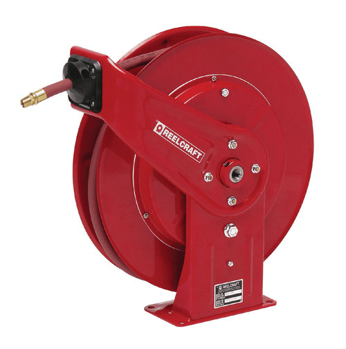Reelcraft 7850 OLP Heavy Duty Spring Retractable Hose Reel | 1/2 in. Hose Diameter | 50 Ft. Hose Length | 300 Max PSI