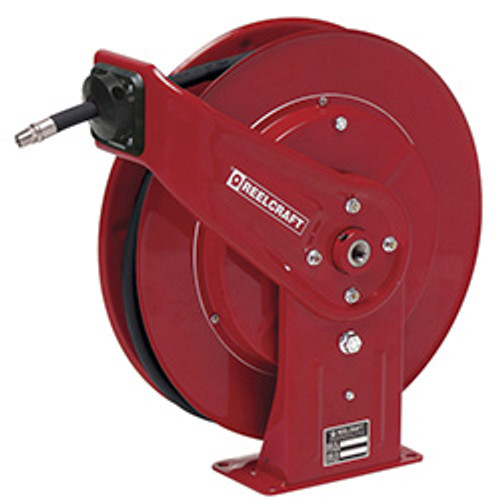 Reelcraft 7850 OMP Heavy Duty Spring Retractable Hose Reel | 1/2 in. Hose Diameter | 50 Ft. Hose Length | 3,000 Max PSI