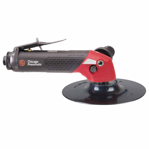 """Chicago Pneumatic CP3650-075AB 7"""" Angle Sander   2.4 HP   3/8"""" Air Inlet   5/8"""" - 11 Thread   7,500 RPM"""