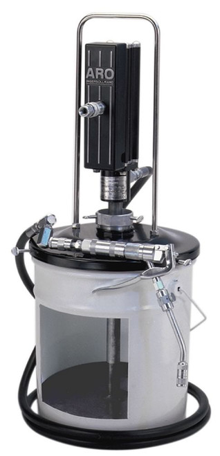 "Ingersoll Rand ARO LP3004-1 Piston Grease Pump Package | LP Series | 3"" Air Motor 120 lb | 50:1 Pump Pressure Ratio"