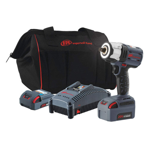 """Ingersoll Rand W5153-K22 Cordless Socket Retainer Ring Anvil Impact Wrench Kit 