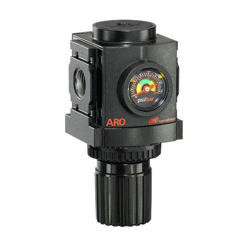 "ARO R37221-400 1/4"" Relieving Regulator | 1500 Series | Standard Knob Control | 86 SCFM"