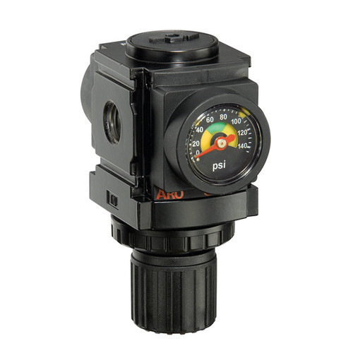 "ARO R37121-100 1/4"" Relieving Regulator | 1000 Series | Standard Knob Control | 59 SCFM"