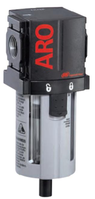 "ARO F35221-400 1/4"" Filter | 1500 Series | Manual Drain | Polycarbonate Bowl with Guard | 73 SCFM"