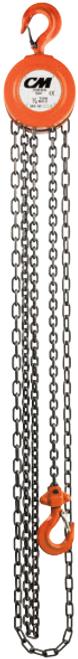 CM Hand Chain Hoist Model 2208A | 1/2 Ton Capacity | 15 Feet Lift