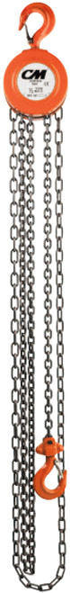 CM Hand Chain Hoist Model 2210A | 1 Ton Capacity | 15 Feet Lift