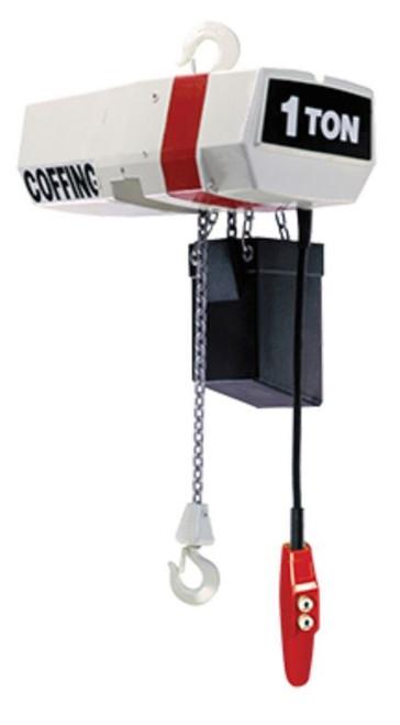 Coffing 2 Ton Hoist   EC4006-10-1   10 Ft. Lift   6 FPM Lift Speed