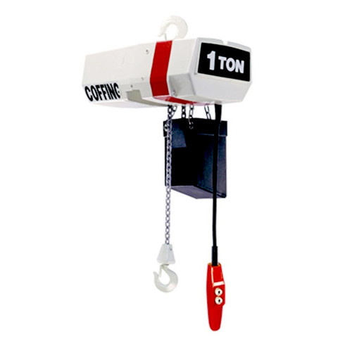 Coffing  1 Ton Hoist | EC2008-20-1 | 20 Ft. Lift | 8 FPM Lift Speed