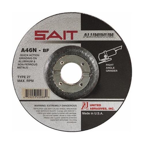 "United Abrasives 1/4"" Type 27 Aluminum Grinding Wheel with Hub | 20162| 4-1/2"" Diameter"