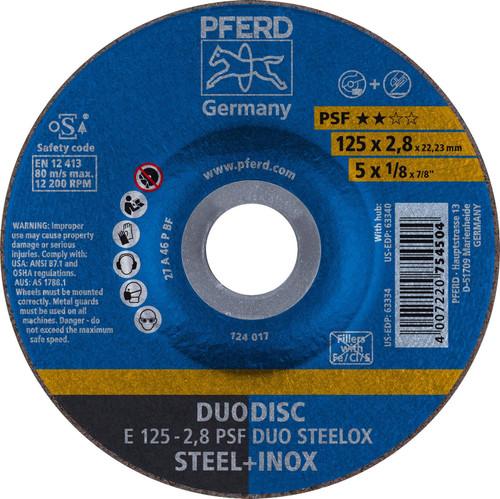 "PFERD 1/8"" Duodisc Cut-Off Wheel 7/8"" Arbor Hole"