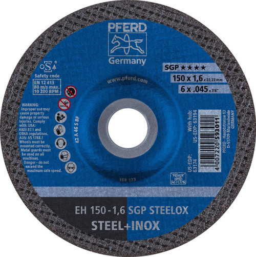 PFERD Type 27 Depressed Center Cut-Off Wheel A S SGP