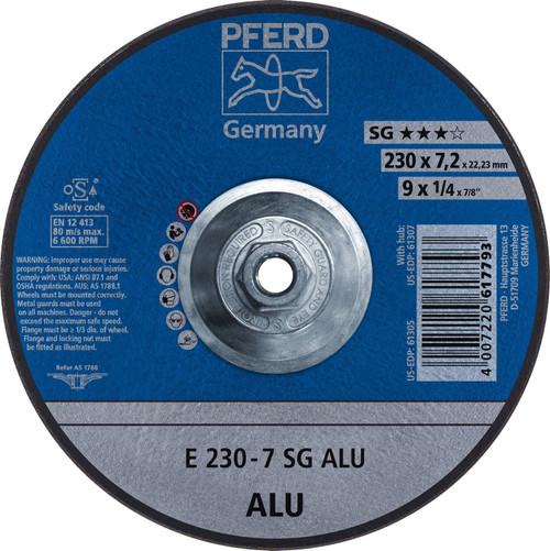 "PFERD 1/4"" Aluminum Oxide Grinding Wheel Grade N-ALU Plain Arbor Hole"