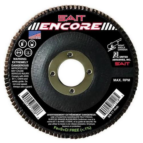 "United Abrasives 4-1/2"" Type 27 Encore Flap Disc | 71206 | 40 Grit"