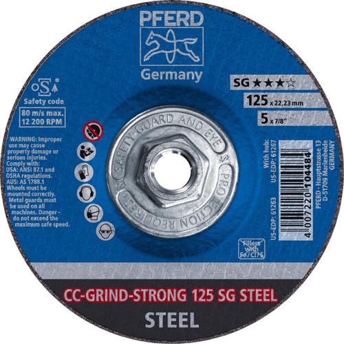 "PFERD Grinding Wheel CC-GRIND-STRONG 5/8-11"" Thread Hole"