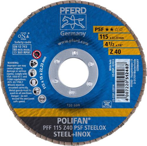 PFERD Type 27 Zirconia Flat Flap Disc