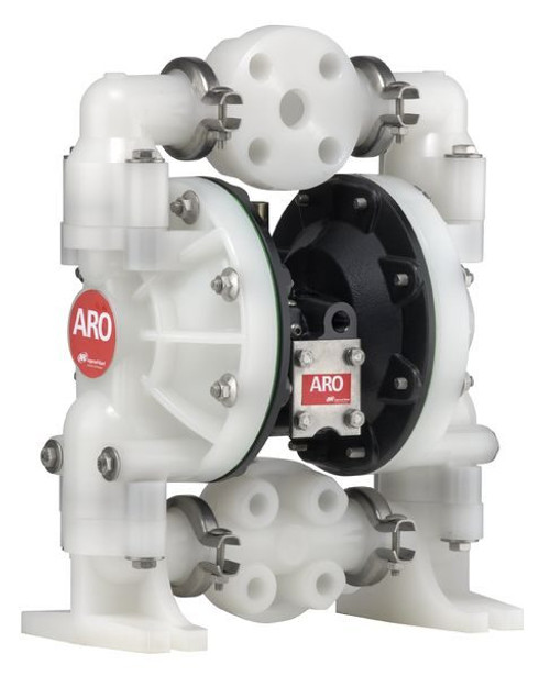 "Ingersoll Rand ARO 6661B3-344-C | 1"" Plastic AODD Pump ( w/ Teflon) | 47 GPM | Cast Iron Center"