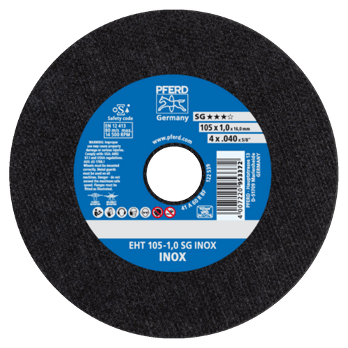 PFERD Flat Type Cut-Off Wheel SG INOX