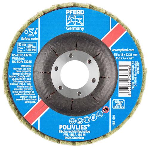 "PFERD 3/4"" Polivlies Non-Woven Flap Disc | 43274 | 7/8"" Arbor Hole | 4-1/2"" Diameter"