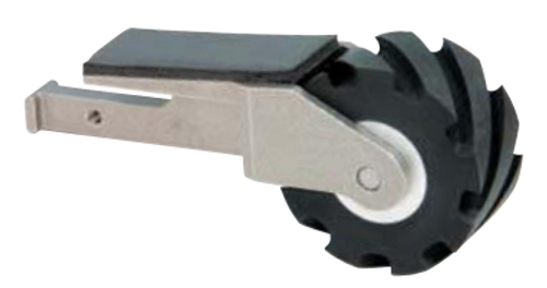 "Dynabrade Dynafile III Contact Arm Assembly | 15350 | 2"" D x 1"" W | Rubber Wheel | 1"" W Platen"