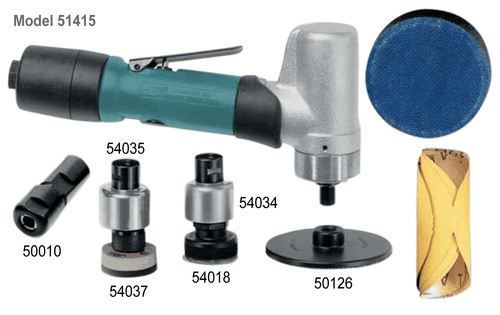 Dynabrade 51415 7-Degree Offset Mini-Dynorbital Random Orbital Sander Versatility Kit   0.4 HP   3,200 RPM