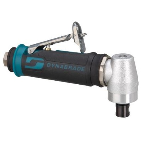 """Dynabrade 48315 Right Angle Die Grinder   0.4 HP Motor   12,000 RPM   Spiral-Geared   Rear Exhaust   1/4"""" & 6 mm Collets"""