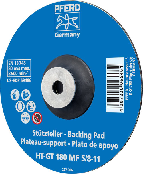 """Pferd 69483 5"""" Temperature Resistant Fiber Disc Backing Pad   5/8-11"""" Thread   12,200 Max RPM   Flexible Density"""
