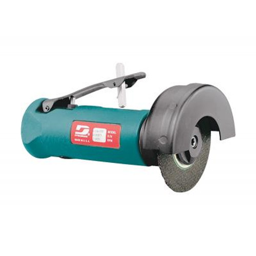 """Dynabrade 52434 3"""" Straight-Line Cut-Off Wheel Tool   0.5 HP   20,000 RPM   Gearless Motor   Front Exhaust   3/8""""-24 Spindle Thread"""