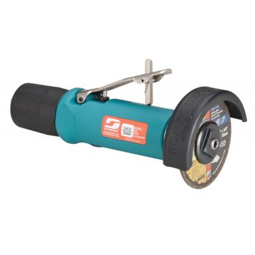 """Dynabrade 52435 3"""" Straight-Line Cut-Off Wheel Tool   0.5 HP   20,000 RPM   Rear Exhaust   3/8""""-24 Spindle Thread"""