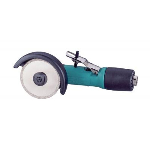 """Dynabrade 52439 3"""" Right Angle Diamond Cut-Off Wheel Tool   0.4 HP   12,000 RPM   Rotary Vane   Rear Exhaust   3/8""""-24 Spindle Thread"""