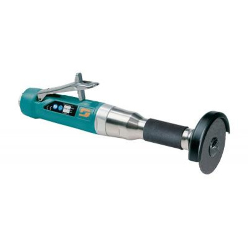 """Dynabrade 52577 3"""" Straight-Line 6"""" Extension Cut-Off Wheel Tool   1 HP   18,000 RPM   Rear Exhaust   3/8""""-24 Spindle Thread"""