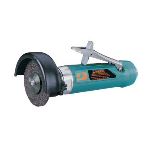 """Dynabrade 52573 4"""" Straight-Line Cut-Off Wheel Tool   1 HP   15,000 RPM   Rear Exhaust   3/8""""-24 Spindle Thread"""