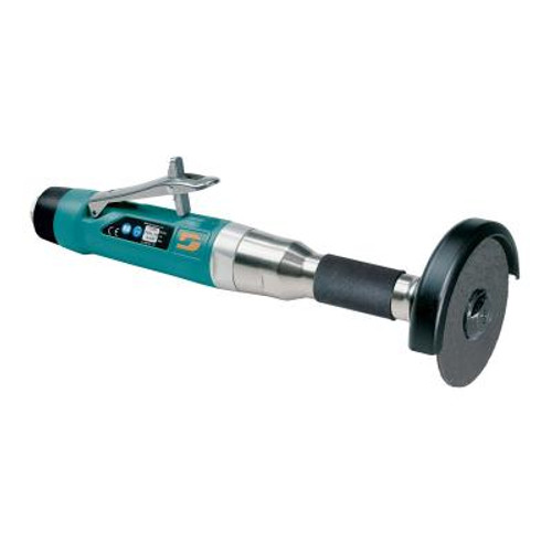 """Dynabrade 52579 4"""" Straight-Line 6"""" Extension Cut-Off Wheel Tool   1 HP   15,000 RPM   Rear Exhaust   3/8""""-24 Spindle Thread"""