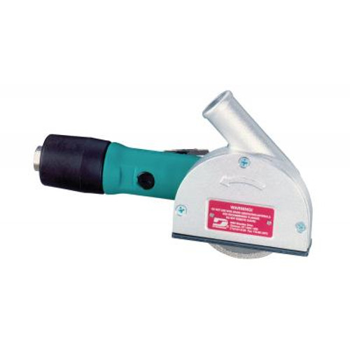"""Dynabrade 52538 3"""" Right Angle Central Vacuum Cut-Off Wheel Tool   0.4 HP   12,000 RPM   Rotary Vane   Rear Exhaust   3/8""""-24 Spindle Thread"""